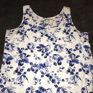 Faded glory floral tank top